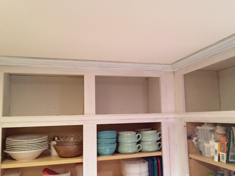 Extending the Cabinets to the Ceiling – {Kitchen Makeover}