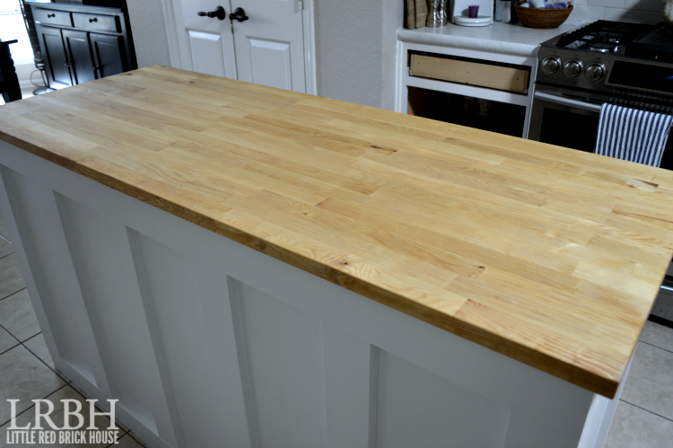 Butcher Block Island Countertop Kitchen Makeover