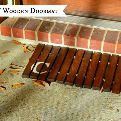 How to Make a Wooden Doormat from 1×2 Boards