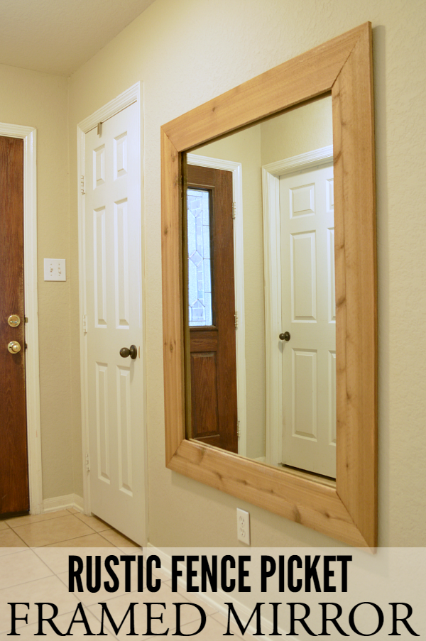Rustic Fence Picket Framed Mirror
