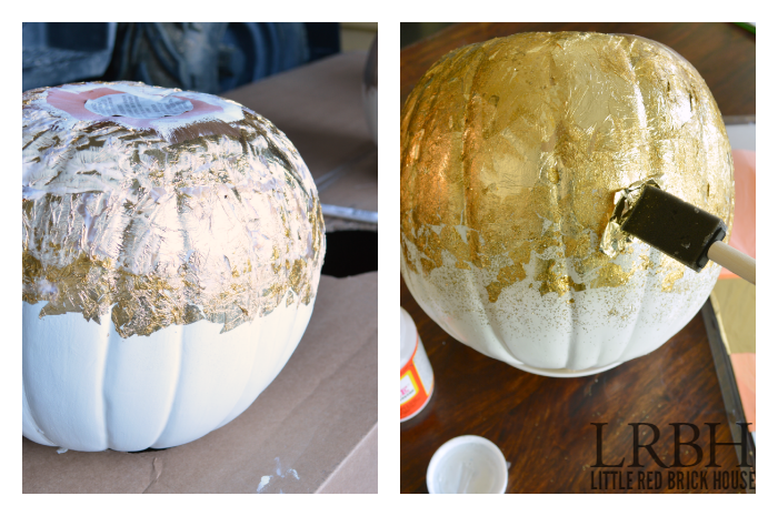Gold Leaf & Glitter Pumpkins | LITTLE RED BRICK HOUSE