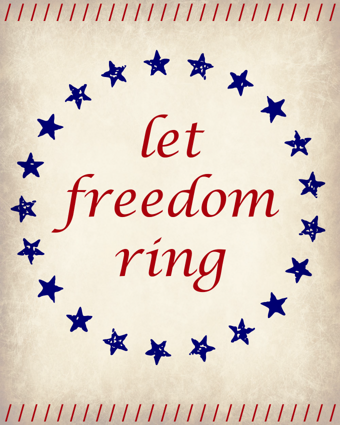 Let Freedom Ring Printable | LITTLE RED BRICK HOUSE