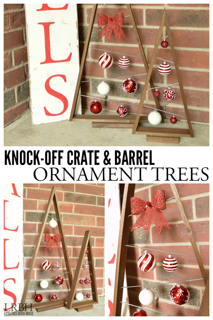 Knock-off Crate & Barrel Ornament Trees
