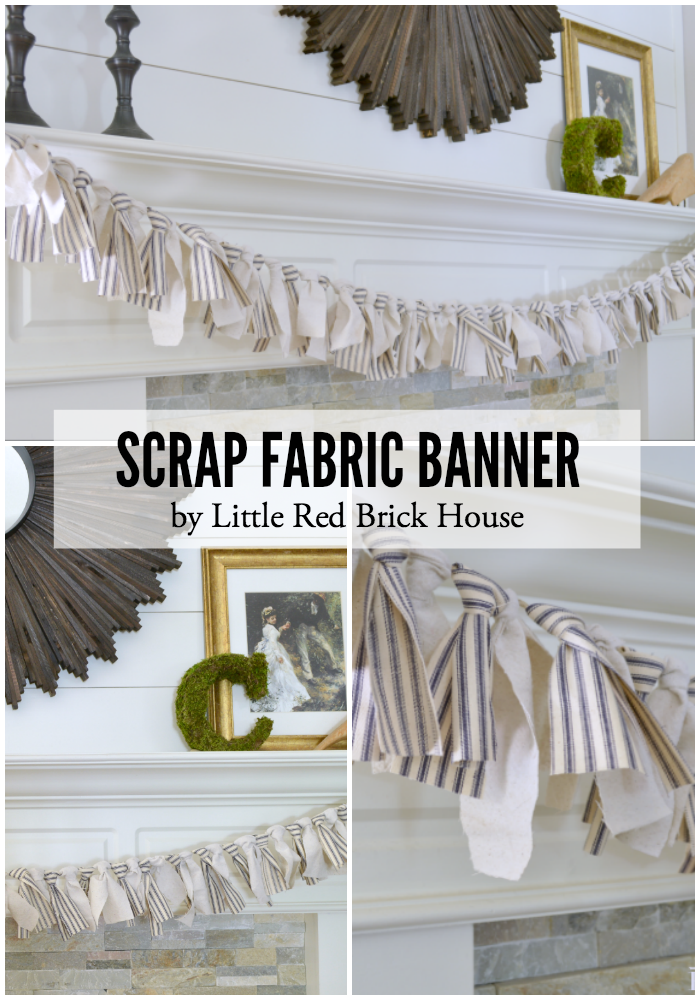 Scrap Fabric Banner | LITTLE RED BRICK HOUSE