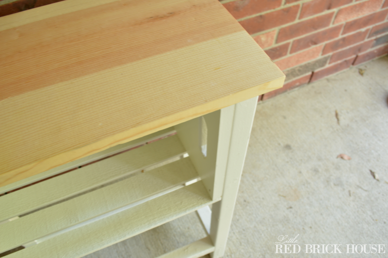Wooden Crate Storage Table | Little Red Brick House