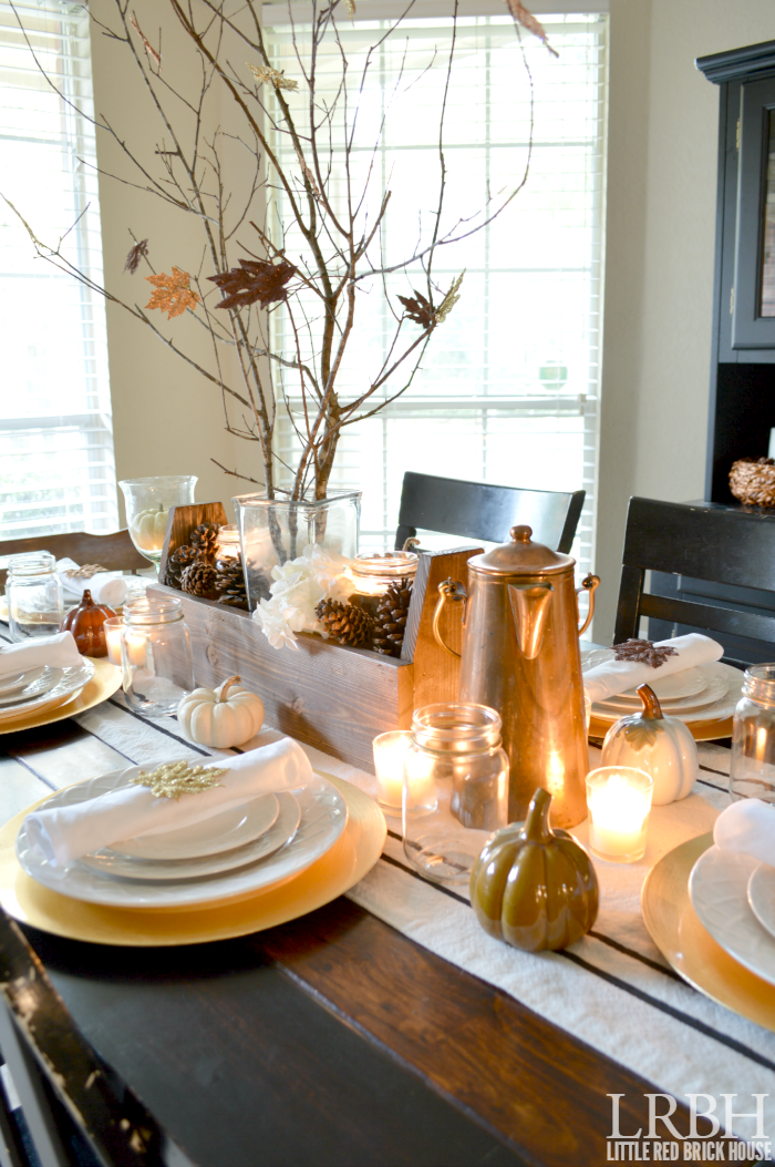 Handmade Thanksgiving Tablescape | LITTLE RED BRICK HOUSE