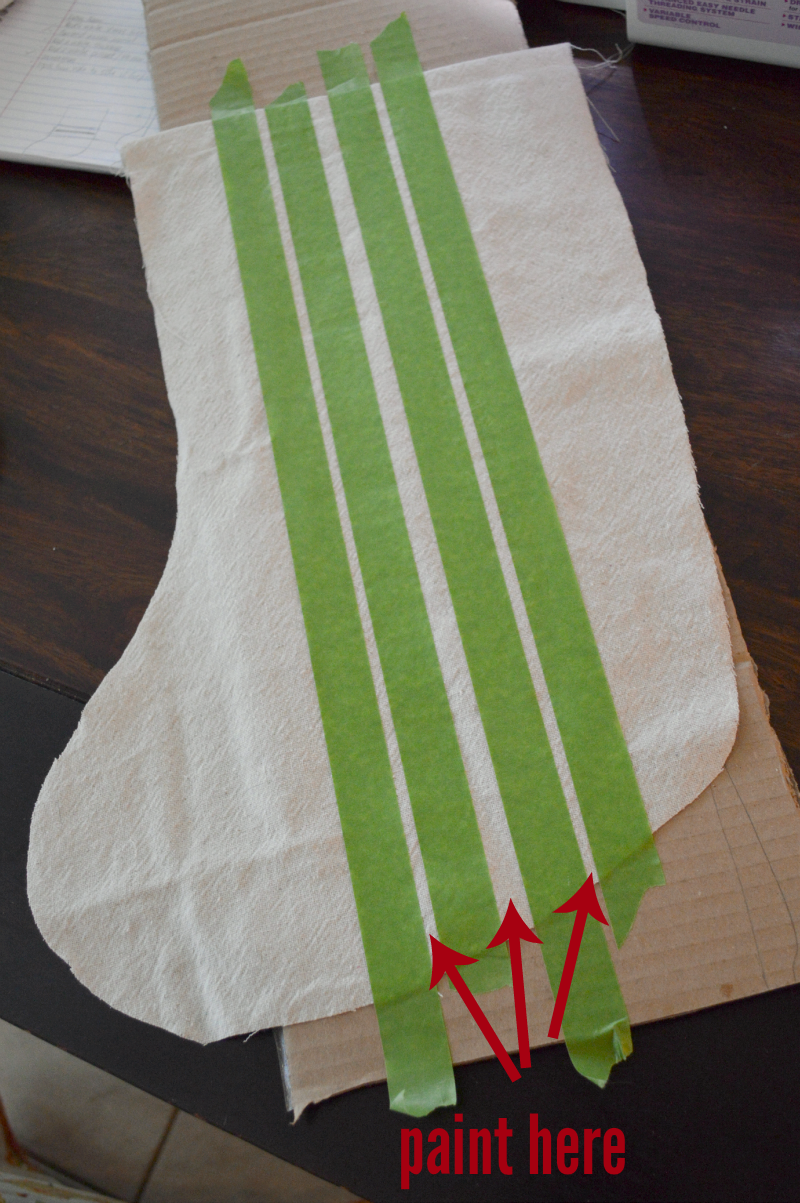 Drop Cloth Grain Sack Stockings | LITTLE RED BRICK HOUSE