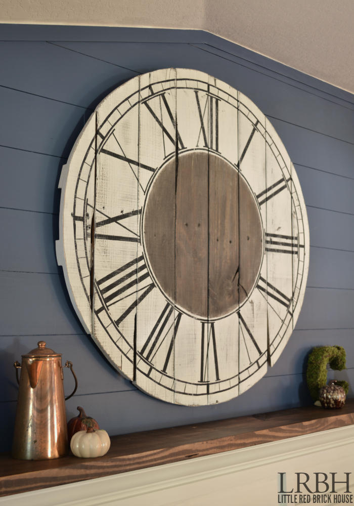 Roman Numeral Pallet Clock Little Red Brick House
