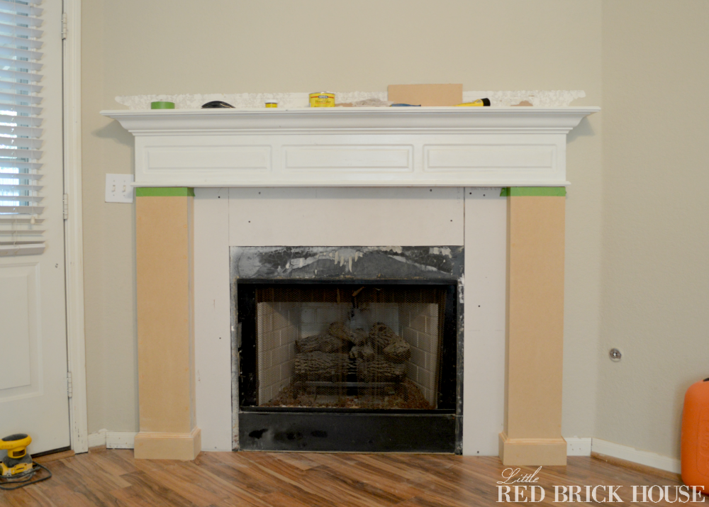 Fireplace Makeover Planked Wall Tutorial Little Red Brick House