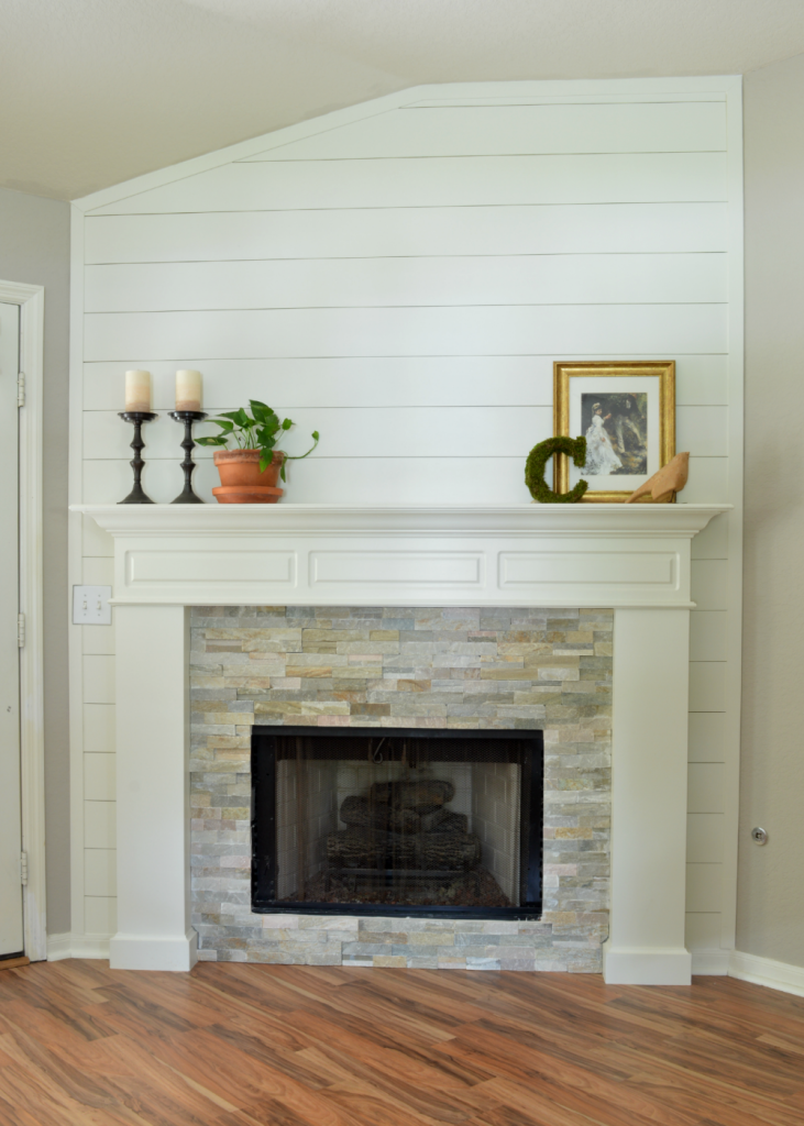 Fireplace Makeover: Take 2 | LITTLE RED BRICK HOUSE