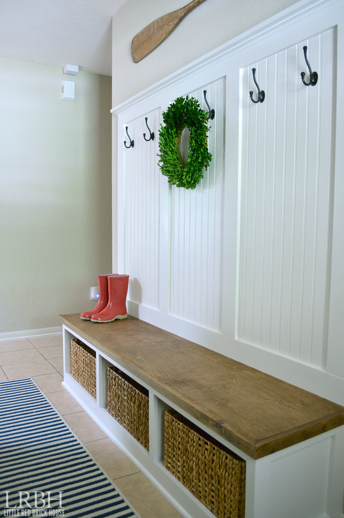 DIY Entryway Mudroom Reveal | LITTLE RED BRICK HOUSE