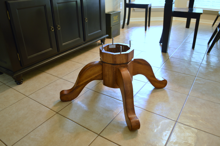 Diy Pedestal Coffee Table Domestically Speaking