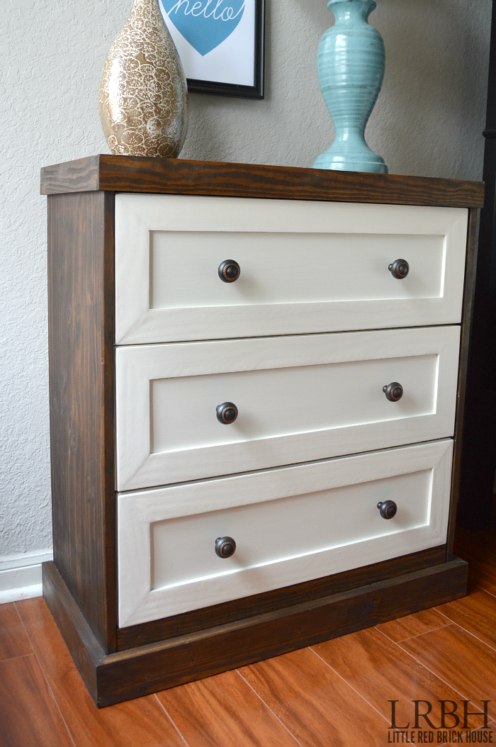 Two Toned IKEA Rast Dresser Hack
