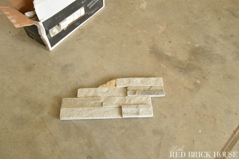 How To Add Stone Veneer To A Fireplace | Little Red Brick House