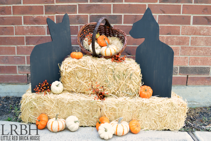 DIY Black Cat Halloween Decor from Little Red Brick House  | Halloween Favorites at www.andersonandgrant.com