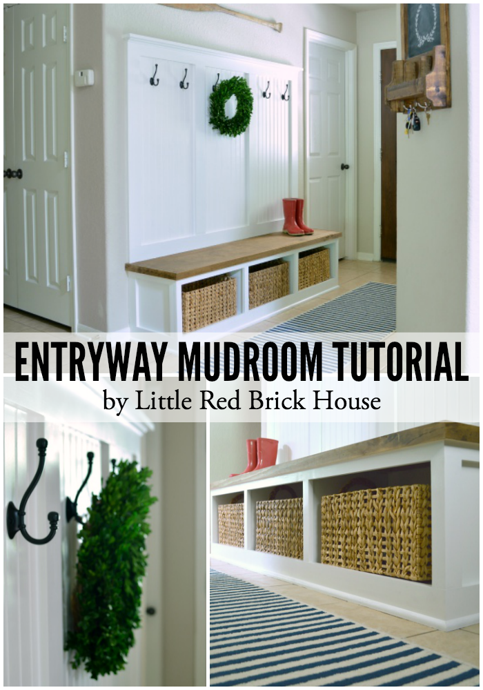 Entryway Mudroom Tutorial | LITTLE RED BRICK HOUSE