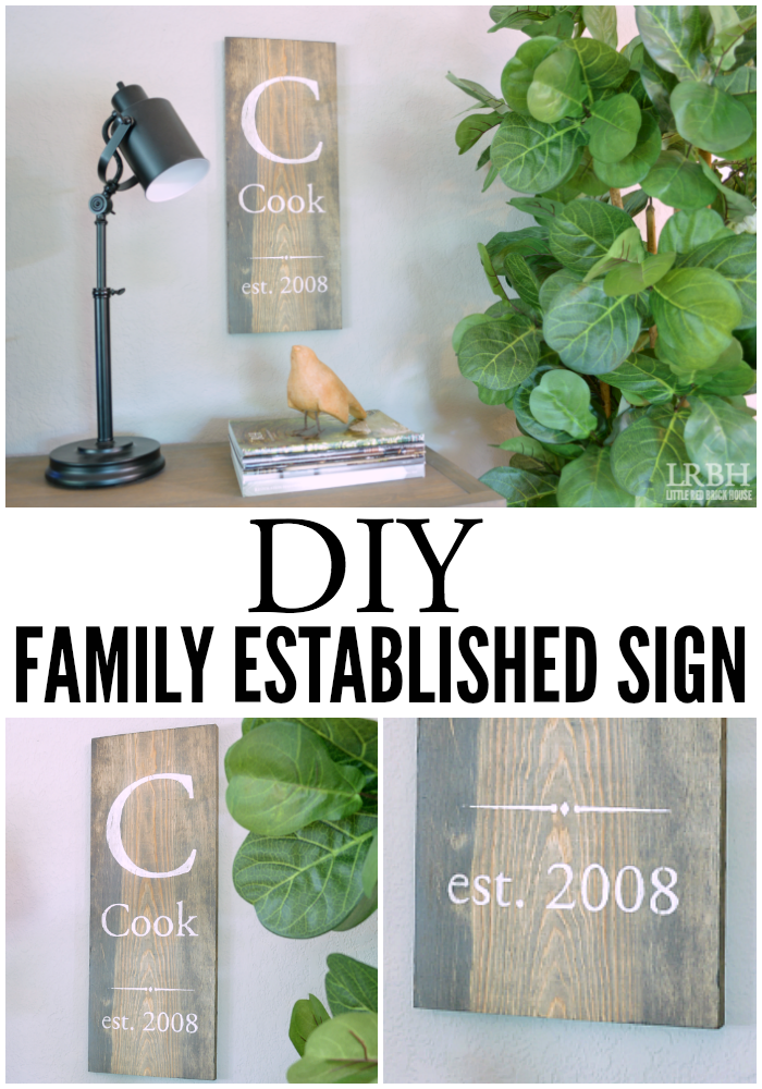 DIY Family Established Sign | LITTLE RED BRICK HOUSE