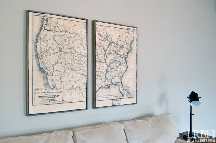 Framed U.S. Explorer Route Map | Little Red Brick House