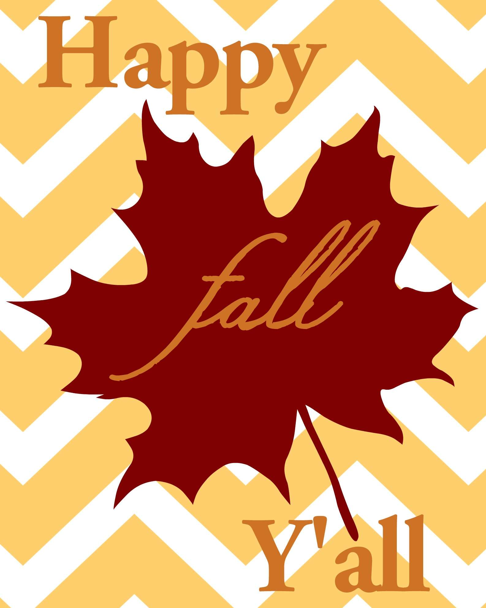 photo regarding Happy Fall Yall Printable titled Free of charge \