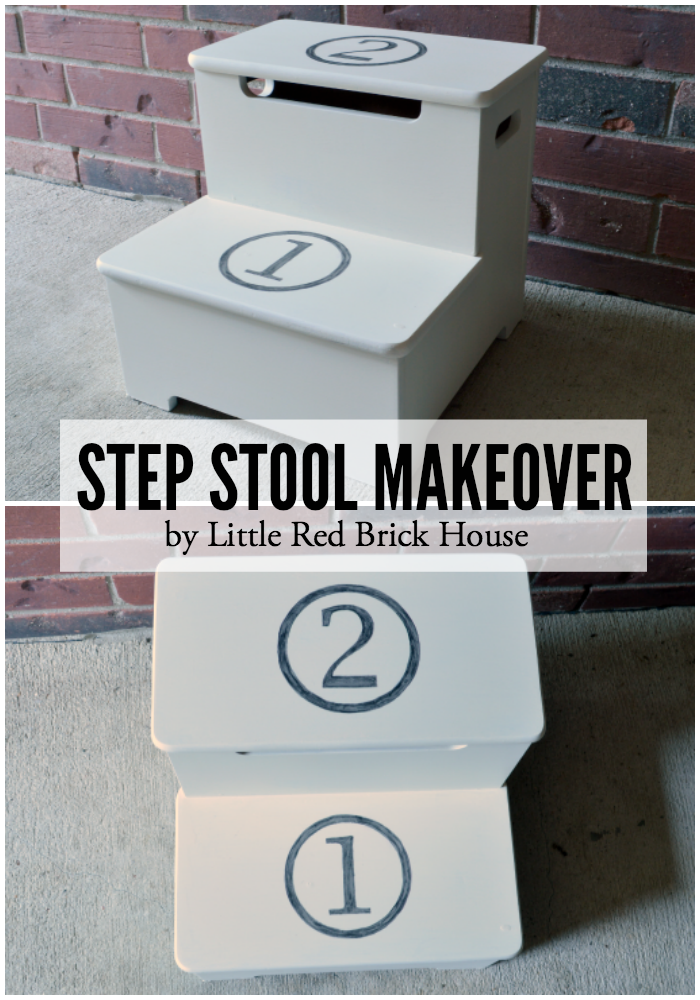 Step Stool Makeover | LITTLE RED BRICK HOUSE