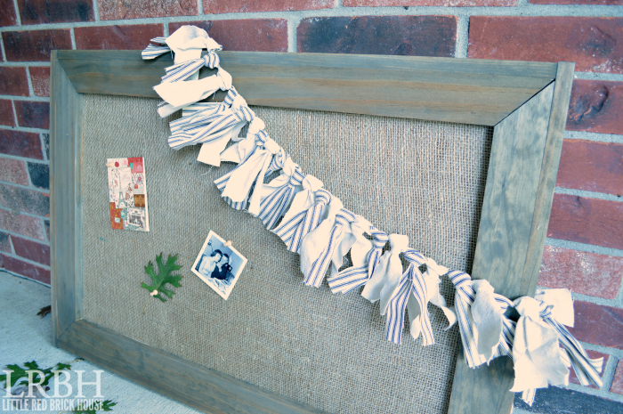 Burlap Bulletin Board | LITTLE RED BRICK HOUSE