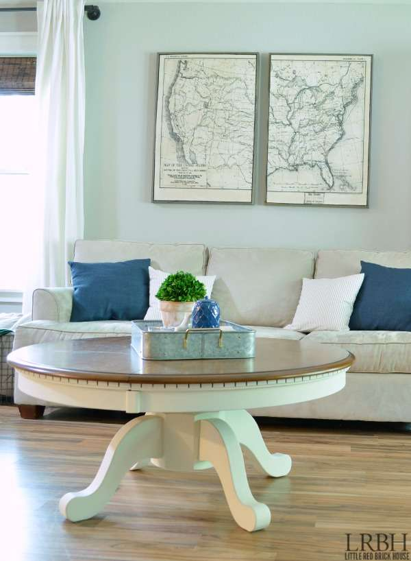 Fancy DIY Pedestal Coffee Table LITTLE RED BRICK HOUSE
