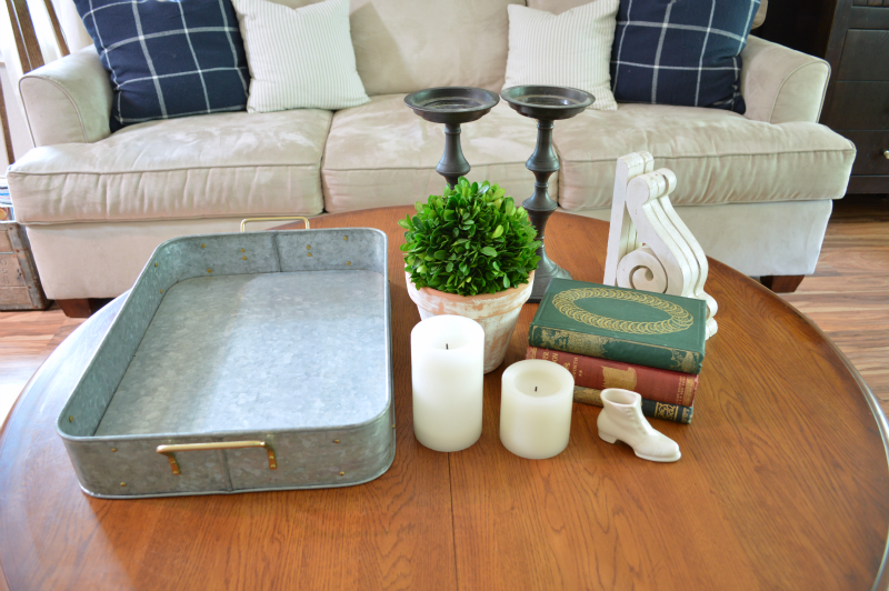 coffee table vignette items