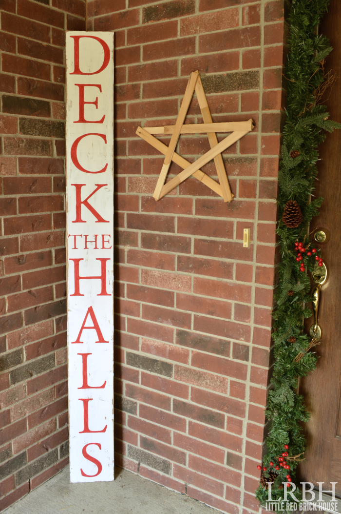 "DIY ""Deck the Halls"" Sign 