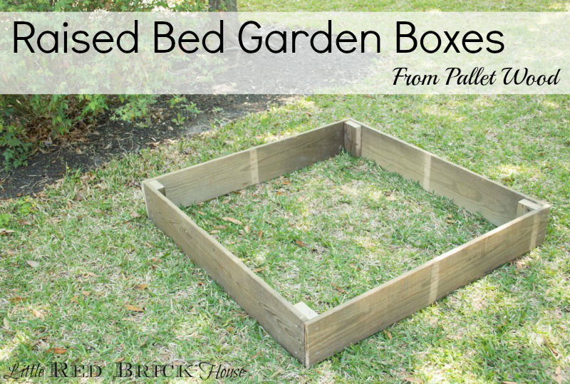 Red Brick Raised Garden Bed