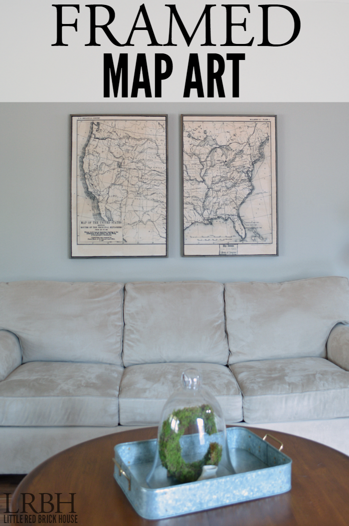 Framed Map Art | LITTLE RED BRICK HOUSE