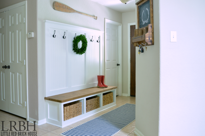 Entryway Mudroom Tutorial Little Red Brick House