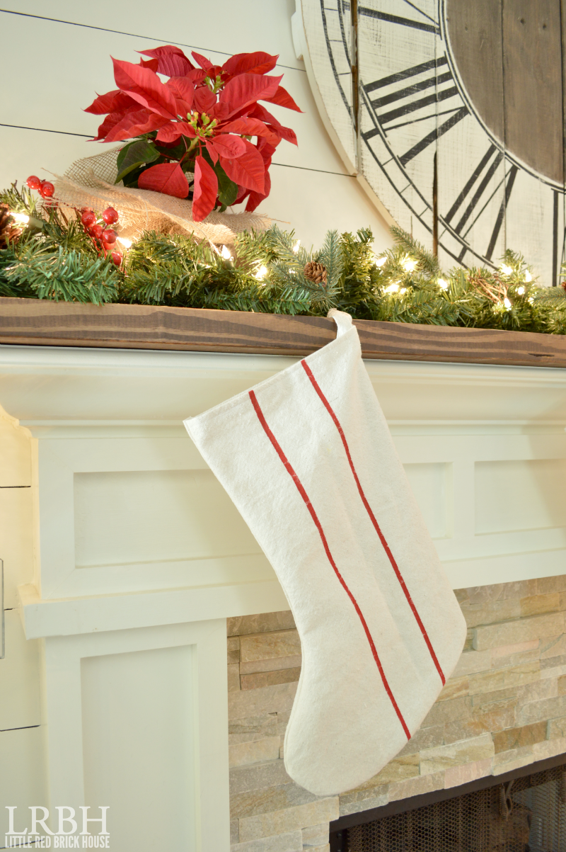 Drop Cloth Grain Sack Stripe Stockings | LITTLE RED BRICK HOUSE