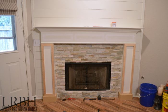 Fireplace makeover take 2 little red brick house - Red brick fireplace makeover ...